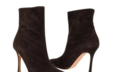 Manolo Blahnik Ankle Boot Buttery Soft Suede 36.5 / 6.5