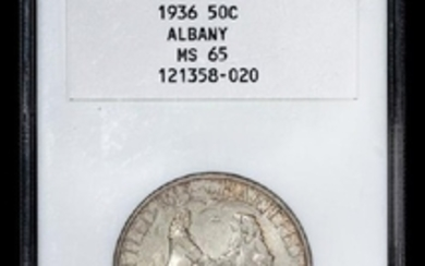 A United States 1936 Albany Commemorative 50c Coin