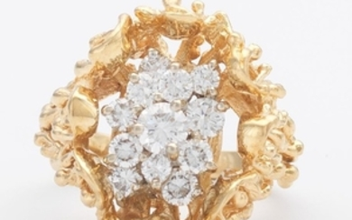 Ladies' Gold and Diamond Cocktail Ring