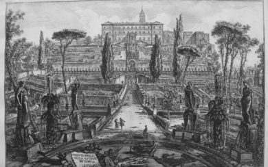 Piranesi, Giovanni: THE VILLA D'ESTE IN TIVOLI, Year 1773