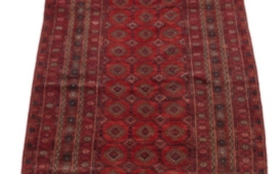 Semi-Antique Very Fine Hand-Knotted Turkoman Silky Wool Carpet, ca. 1950's