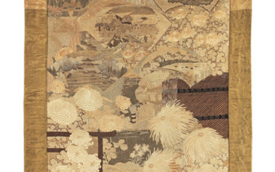 A large embroidered wall hanging