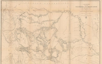 """""""Map of the Yellowstone and Missouri Rivers and Their Tributaries"""", U.S. War Department"""