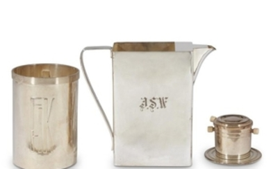 Three art deco silverplate items Various makers, 20th century...