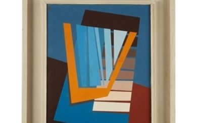 """GEORGE ALBERT HARRIS (american, 1913-1991) """"DUET"""" Signed with initials..."""