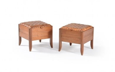 Liberty & Co. (attributed to), a pair of box stools