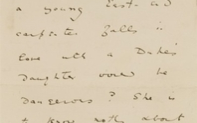 """Oscar Wilde- Autograph Letter, Signed: 1pp. """"Do you really ..."""