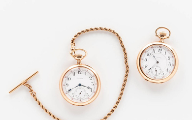"""Two 14kt Gold A.W.W. Co. """"Riverside"""" Watches"""