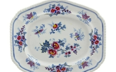 A Victorian Transfer Decorated Platter Width 1