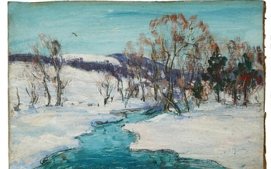 Walter Emerson Baum 'Snowy Creek' Small O/B