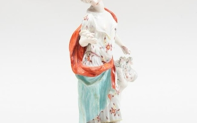English Porcelain Figure Emblematic of Summer, Probably