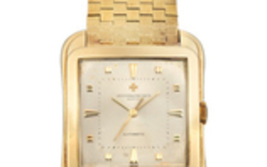 Vacheron Constantin. A Very Rare and Oversized Yellow Gold Centre Seconds Bracelet Watch