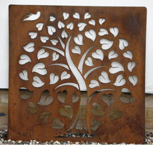 Life With Bird Metal Silhouette Wall Panel