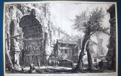Piranesi, Giovanni: THE ARCH OF TITUS, Year 1760.