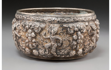 Maker unknown, A Nepalese Repousse Silver Bowl (19th century)