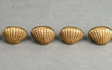 Bronze Shell-Form Place Card Holders Group of 6