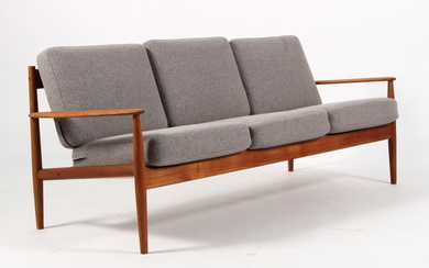 Ole Wanscher. Three-seater sofa in teak, model 128.