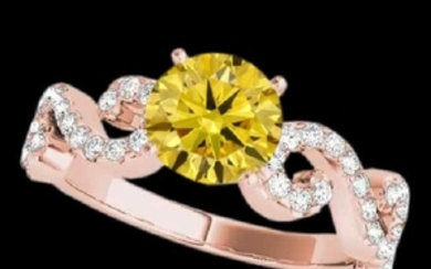 1.40 CTW Certified SI/I Fancy Intense Yellow Diamond
