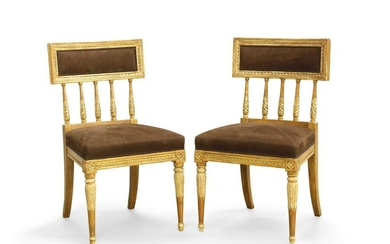 A pair of Swedish Neoclassical style side chairs