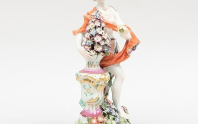 Bow Porcelain Figure Emblematic of Smell