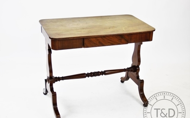 A Victorian mahogany side table, with a single frieze drawer...