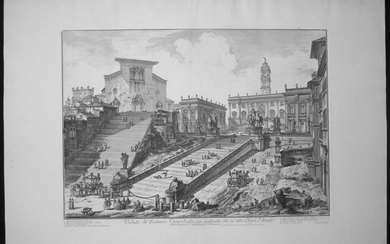 Piranesi, Giovanni: THE CAPITOL AND THE STEPS OF S. MARIA IN ARACOELI, Year 1775