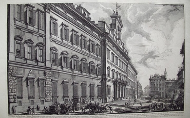 Piranesi, Giovanni: THE PALAZZO DI MONTE CITORIO, Year 1752