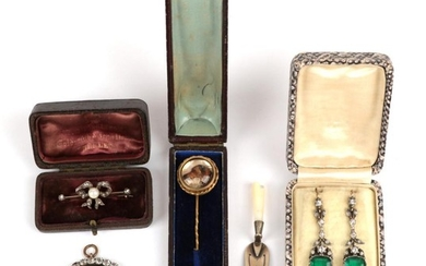 A Small Quantity of Items including; a diamond and pearl...