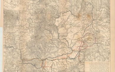"""[Untitled - Map Showing Routes of Oregon Volunteers During the Cayuse War of 1848]"", U.S. War Department"