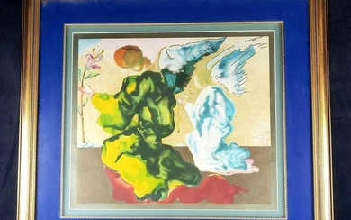 Salvador Dali The Annunciation Signed Framed Lithograph