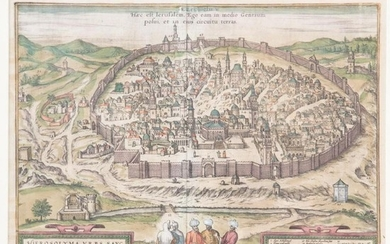 Braun & Hogenberg, View of Jerusalem, 1572