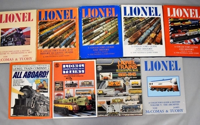 Nine Lionel Trains Collector's Guide and History books