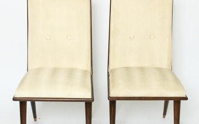 Art Deco Side Chairs, Pair