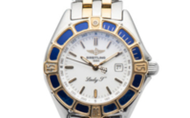 BREITLING, REF. D52065, LADY J, STEEL AND GOLD