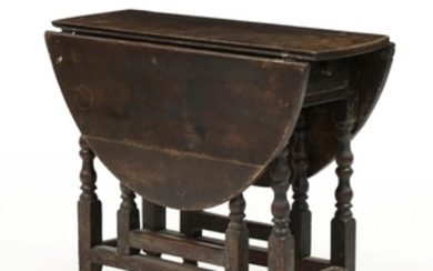 English William and Mary Oak Drop Leaf Breakfast Table