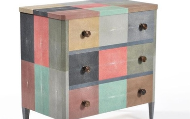 Lamberty Bespoke, a patchwork shagreen chest of drawers