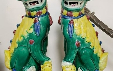 Pair of Mid 20th Century Chinese Famille Verte