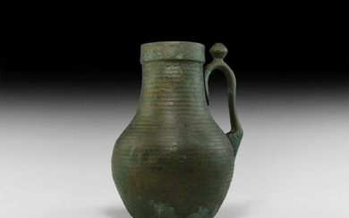 Parthian Ribbed Flagon with Handle