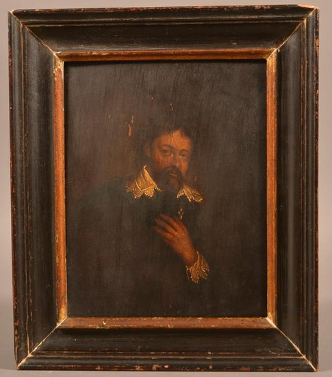 Dutch School Oil on Board Portrait of a Nobleman.