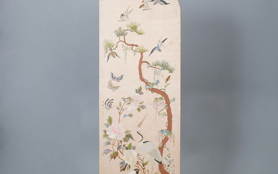 CHINESE SCHOOL, 19TH CENTURY. Landscape with birds.