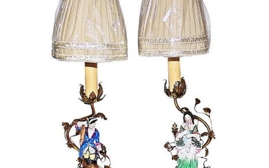1910s French Figural Table Lamps - a Pair