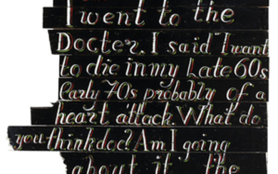 Bob and Roberta Smith (b. 1963), I Went to the Doctor (Diary Page)