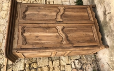 RUSTIC FRENCH LOUIS XV STYLE FRUITWOOD ARMOIRE