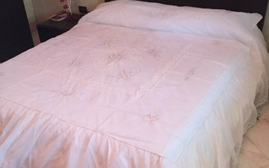 Bedspread (1) - organza and lace - 1950-1974