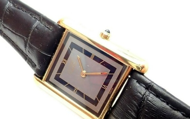 Cartier Tank Vermeil Unisex Quartz Watch
