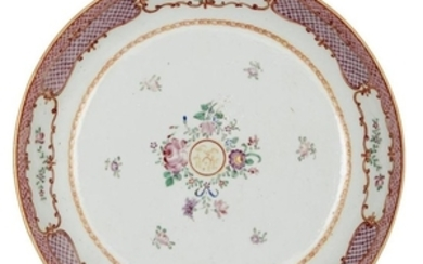A Chinese famille rose porcelain dish for...