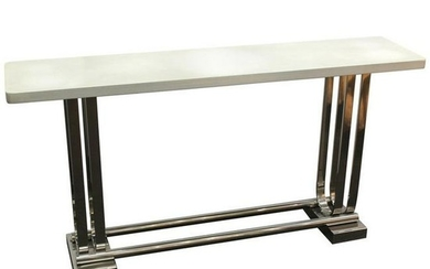 Gilbert Rohde Style Art Deco Revival Console Table