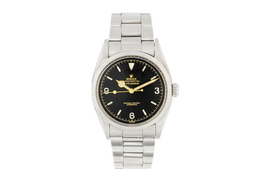 Rolex. A stainless steel automatic bracelet watch