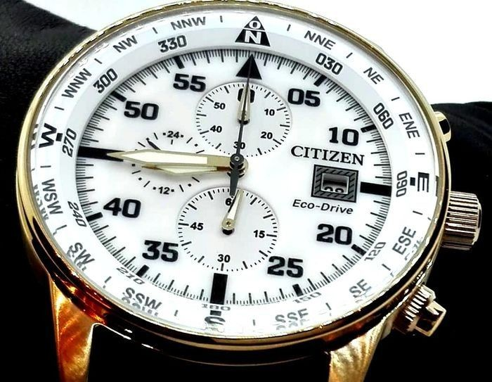 Lot Art Citizen No Reserve Price Professional Crono Aviator Eco Drive Ca0693 Men 2019