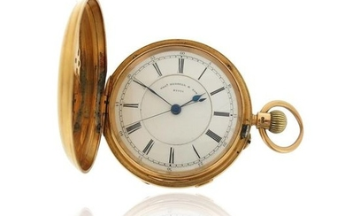 A gentleman's 18ct gold pocket watch by Thomas...